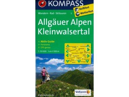 Allgauer Alpen,  Kleinwalsertal (Kompass - 3)