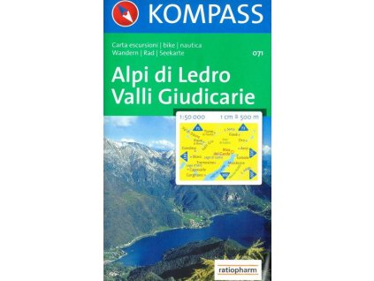 Alpi di Ledro, Valli Guidicarie (Kompass - 071)