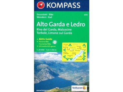 Alto Garda e Ledro (Kompass - 690)
