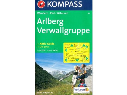 Arlberg, Verwallgruppe (Kompass - 33)