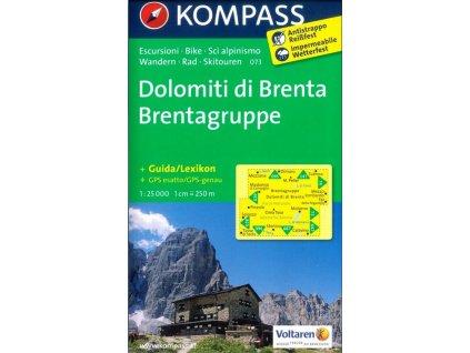 Dolomiti di Brenta, Brentagruppe (Kompass - 073)