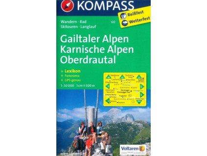Gailtaler Alpen, Karnische Alpen, Oberdrautal (Kompass - 60)
