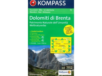 Dolomiti di Brenta (Kompass - 73)