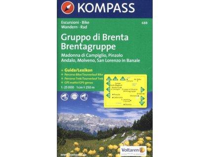 Gruppo di Brenta, Madonna di Campiglio, Andalo, Molveno (Kompass - 688)