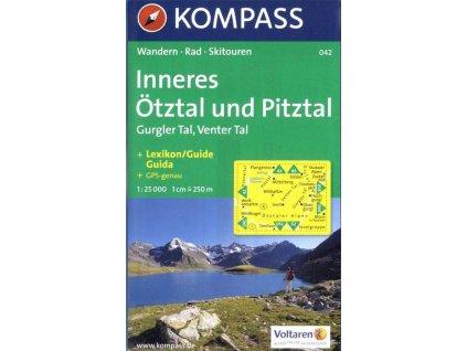 Inneres Ötztal, Gurgler Tal, Venter Tal, Pitztal (Kompass - 042)