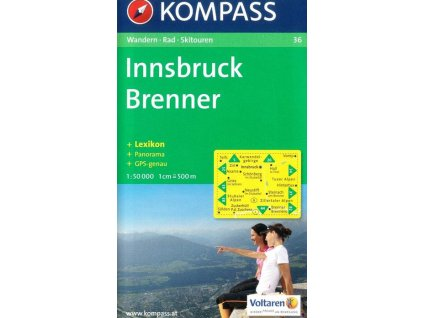 Innsbruck, Brenner (Kompass - 36)