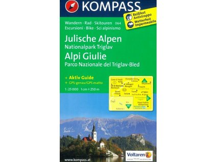 Julische Alpen, Julské Alpy, Triglav (Kompass - 064)