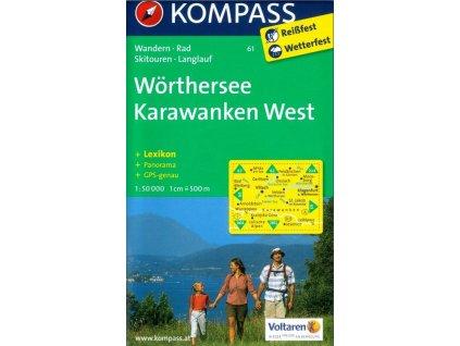Karvanky, Karawanken, Wörther See (Kompass - 61)