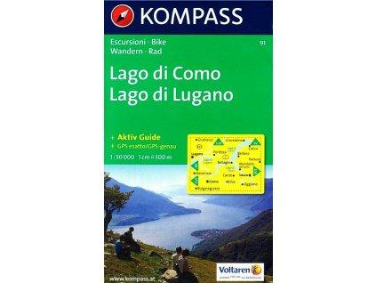 Lago di Como, Lago di Lugano (Kompass - 91)