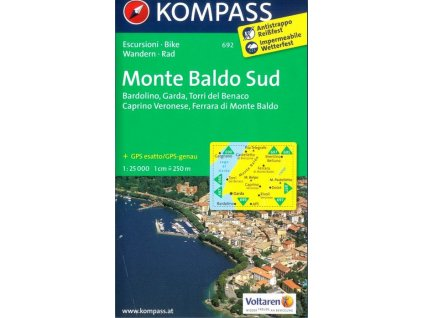 Monte Baldo, jih (Kompass - 692)