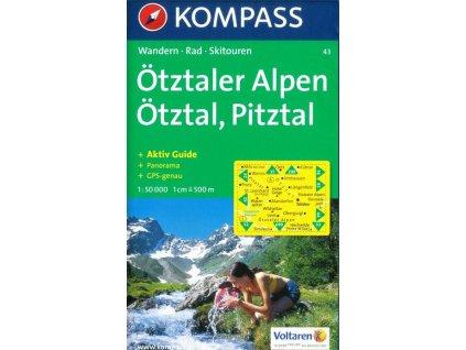 Ötztaler Alpen, Ötztal, Pitztal (Kompass - 43)