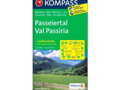 Passeiertal, Val Passiria (Kompass - 044)