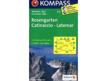 Rosengarten, Catinaccio, Latemar (Kompass - 629)