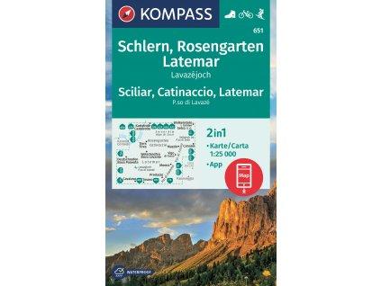 Rosengarten, Catinaccio, Schlern, Sciliar (Kompass - 628)