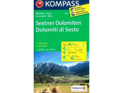 Sextner Dolomiten, Dolomiti di Sesto, Naturpark Drei Zinnen, Tre Cime (Kompass - 625)