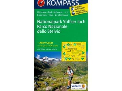 Stelvio, Stilfser Joch, národní park (Kompass - 072)