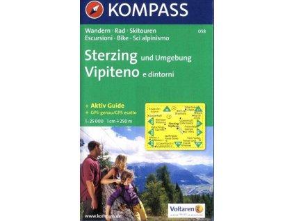 Sterzing, Vipiteno a okolí (Kompass - 058)