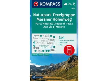 Naturpark Texelgruppe, Meraner Höhenweg (Kompass - 043)