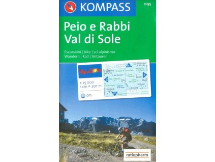 Val di Sole, Péjo e Rabbi (Kompass - 095)