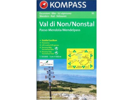 Vale di Non, Nonstal, Passo Mendola, Mendelpass (Kompass - 95)