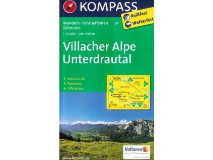 Villacher Alpe, Unterdrautal (Kompass - 64)