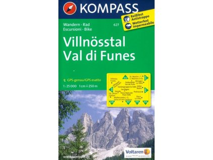 Villnösstal, Val di Funes (Kompass - 627)