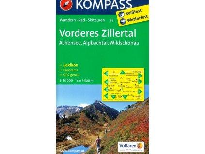 Vorderes Zillertal, Alpach, Rofan, Wildschönau (Kompass - 28)