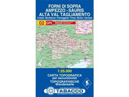 Forni di Sopra, Ampezzo, Sauris, Alta Val Tagliamento (Tabacco - 02)