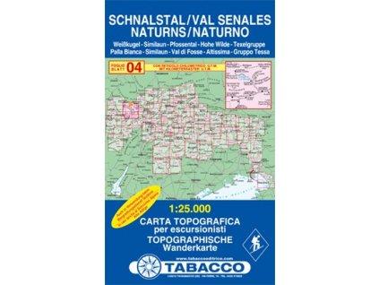 Schnalstal, Val Senales  (Tabacco - 04)