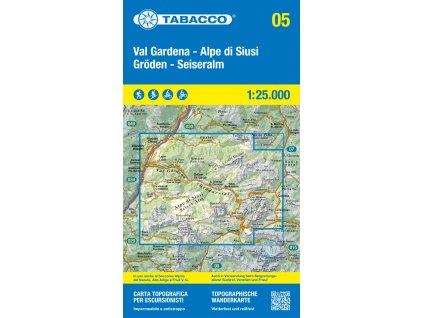 Val Gardena, Alpe di Siusi, Gröden, Seiseralm (Tabacco - 05)