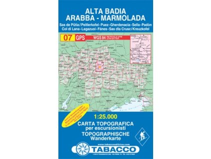 Alta Badia, Arabba, Marmolada (Tabacco - 07)