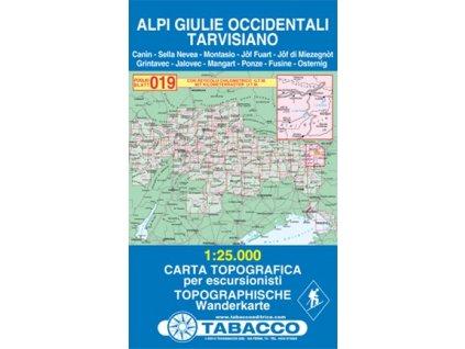 Julské Alpy západní, Tarvisiano (Tabacco - 019)