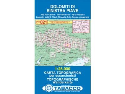 Dolomity oblast řeky Piavy (Tabacco - 021)
