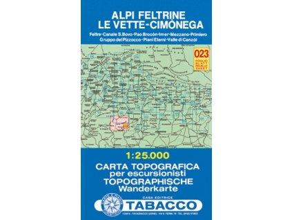 Alpi Feltrine, Le Vette, Cimonega (Tabacco - 023)