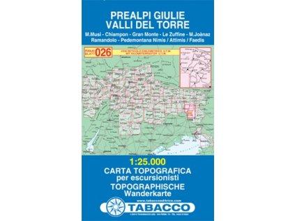 Julské Předalpy, Valli del Torre (Tabacco - 026)