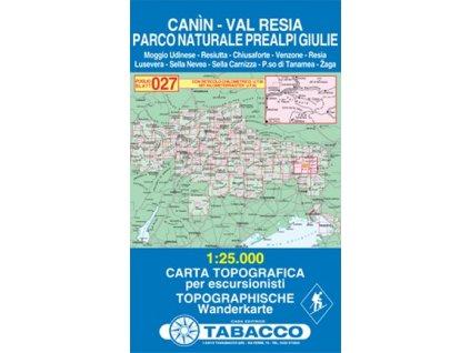 Kanin a oblast Valli di Resia e Raccolana (Tabacco - 027)
