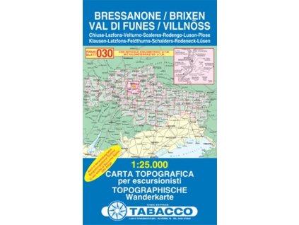 Bressanone, Val di Funes, Brixen, Villnösstal (Tabacco - 030)