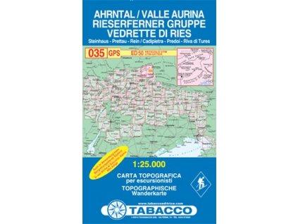 Valle Aurina, Vedrette di Ries, Ahrntal, Rieserferner Gruppe (Tabacco - 035)