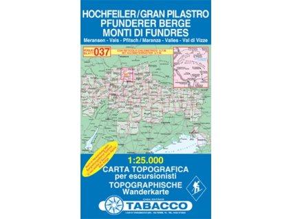 Gran Pilastro, Monti di Fundres, Hochfeiler, Pfunderer Berge (Tabacco - 037)