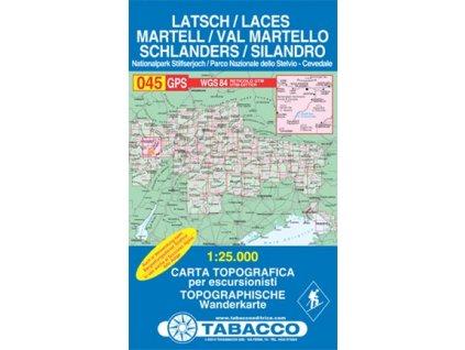 Val Martello, Silandro, Laces, Martell, Schlanders, Latsch (Tabacco - 045)