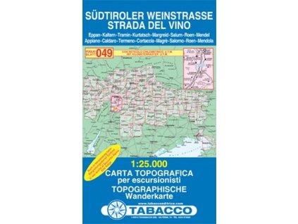 Strada del Vino, Südtiroler Weinstrasse (Tabacco - 049)