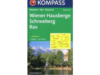 Wiener Hausberge, Schneeberg, Rax (Kompass – 228, set 2 map)