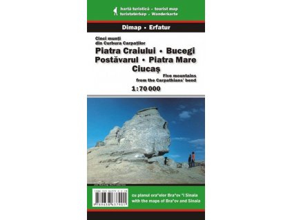 Piatra Craiului – Bucegi – Piatra Mare - turistická mapa