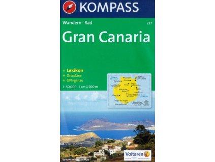 Gran Canaria, turistická mapa (Kompass č. 237)
