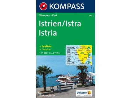 Istrie, turistická mapa (Kompass č. 238)