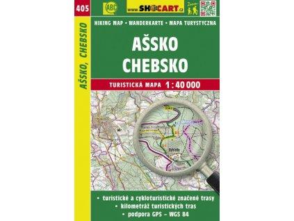 Ašsko, Chebsko - turistická mapa č. 405
