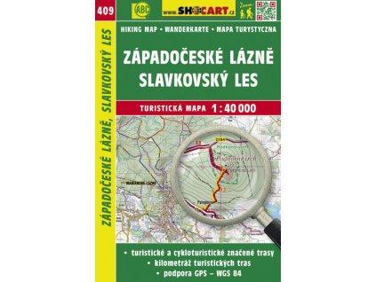 Západočeské lázně, Slavkovský les - turistická mapa č. 409