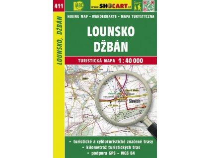 Lounsko, Džbán - turistická mapa č. 411