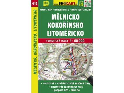 Mělnicko, Kokořínsko, Litoměřicko - turistická mapa č. 412