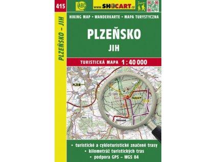 Plzeňsko - jih - turistická mapa č. 415